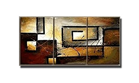 Amazon.com: 100% Hand Painted Oil Painting Abstract Art Large Modern ...
