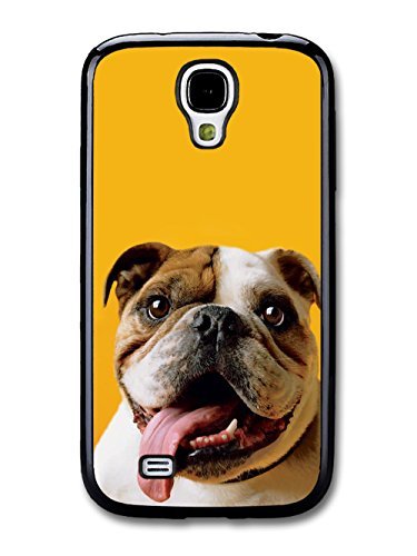 Funny English Bulldog With Big Tongue coque pour Samsung Galaxy S4