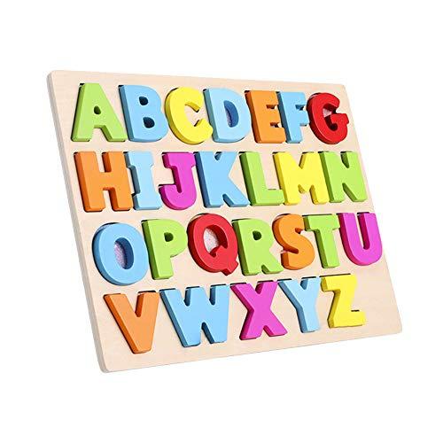 Ktyssp Alphabet Puzzle Board Wooden Puzzle Birthday Boy Girl Educational Toy ()