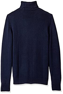Calvin Klein Men's Ombre Stripe Cable Knit Turtleneck Sweater