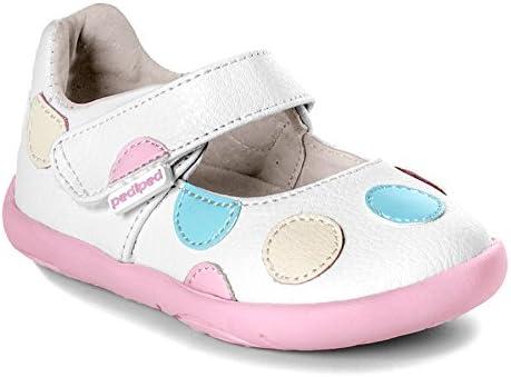 ペディペド グリップゴー Giselle ジゼル(ホワイト) APMAアメリカ足病学協会認定の子供靴 子供の足の発育を考えた靴 セカンドシューズ ベビーシューズ 本革ベビー靴 本革子供靴