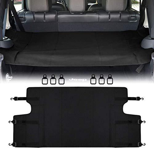 Rear Cargo Rack Cover Shield Trunk Protector Shade Shield Pad Black for Jeep Wrangler 2007-2018 JK JKU Sports Sahara Freedom Rubicon X & Unlimited