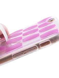 YULIN rayas de doble anillo de tiro soporte TPU caja del teléfono suave para el iphone 6 / 6s (colores surtidos) , rose