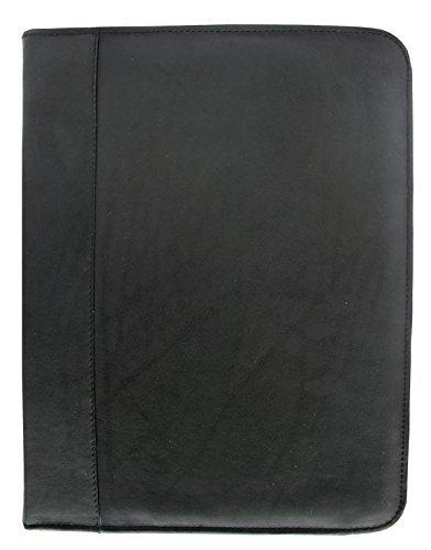 Piel Leather entrepeneur three-ring Binder en negro