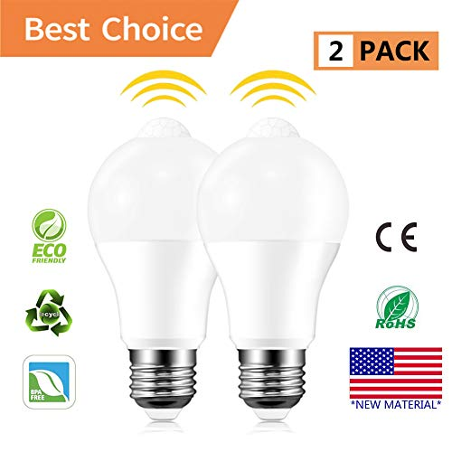 Proximity Light - Motion Sensor Light Bulbs, Akindoo 8W (100-Watt Equivalent) E26/27 Base Motion Activated Dusk to Dawn LED Bulb Outdoor/Indoor for Front Door Garage Basement Hallway Stairs (Cold White)