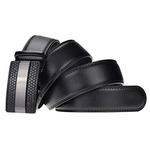 well-wreapped QISHIYUHUA Hombres Cinturón de Cuero Correa Cinturones de Piel  Diseñado para caballero 0addca28a31b