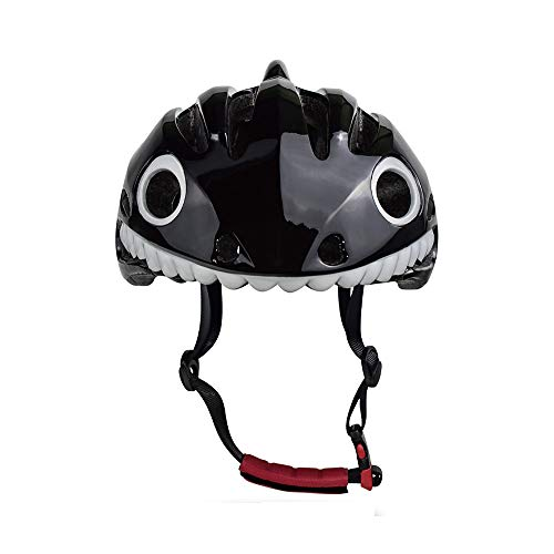 Bavilk Kids Bike Helmet Ultra Light Multi-Sport Breathable Black Shark Helmet