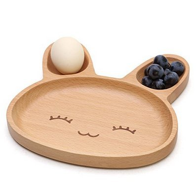 Natural Bamboo Baby Feeding Set 3pcs Includes Plate, Spoon and Fork,BPA Free Infant and Kid Friendly - 7.8'' (1) by Wendy Wu (Image #4)