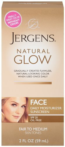 Уход за телом / Красоте Jergens Glow Face Ежедневный увлажняющий солнцезащитный крем SPF 20, ярмарка Med, 2 унции за телом / БьютиКэа