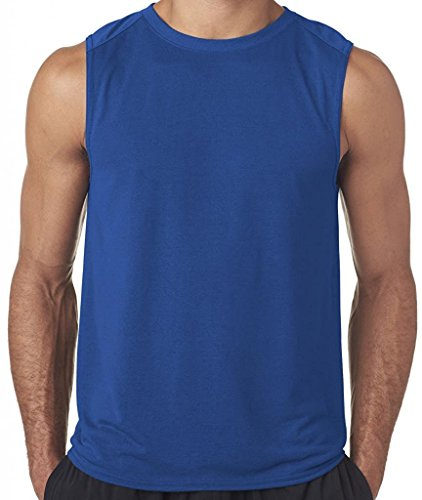 Royal Blue Training Top - Hat and Beyond Active Muscle Tank Top 1TAA0001-00S-ROYAL: