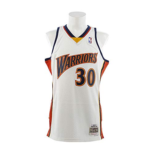 f7f27e0ea789 Stephen Curry Golden State Warriors Mitchell   Ness NBA Throwback Jersey  White (Medium)