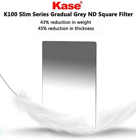 Kase Wolverine Slim 1.1mm Shockproof 100mm x 150mm Reverse Grad ND1.2 Filter Neutral Density 4 Stop Optical Glass 100 150 ND