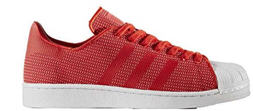 adidas Originals Men's Superstar Casual Fashion Sneaker, Red/Core Pink/FTWWHT 8 D(M) US Classic Performance Cross Trainer