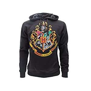 Harry Potter SWEAT A CAPUCHE Hoodie Blason ECOLE DE POUDLARD Hogwarts 4 MAISONS – 100% Officiel WARNER BROS (S Small)