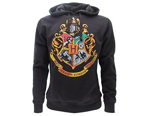 Harry Potter SWEAT A CAPUCHE Hoodie Blason ECOLE DE POUDLARD Hogwarts 4 MAISONS – 100% Officiel WARNER BROS (S Small)