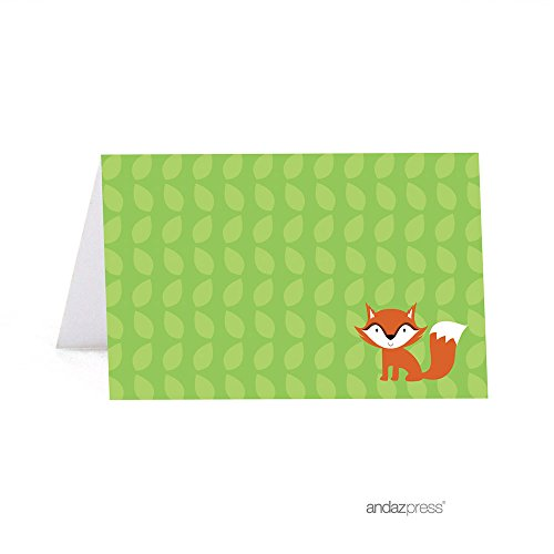 Andaz Press Woodland Forest Baby Shower Collection, Table Tent Printable Place Cards, 20-Pack ()