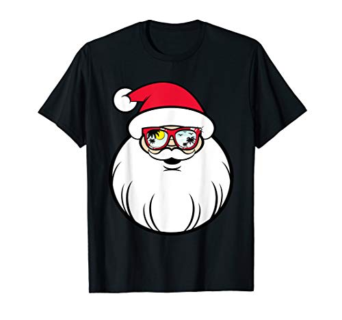 (Christmas In July Party Gift Funny Santa T-Shirt)