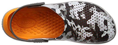 Clog Graphic Zuecos Crocs Gris 97a Grey Unisex U Adulto camo Literide light qgF5RE