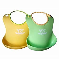 Lambie & Me Food Catcher Pocket Baby Bibs (2-Pack)