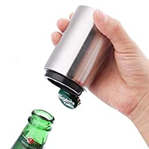 Beer Bottle Opener- Magnet-Automatic,Stainless Steel-Push Down Bottle Openers,Bottle Cap Remover