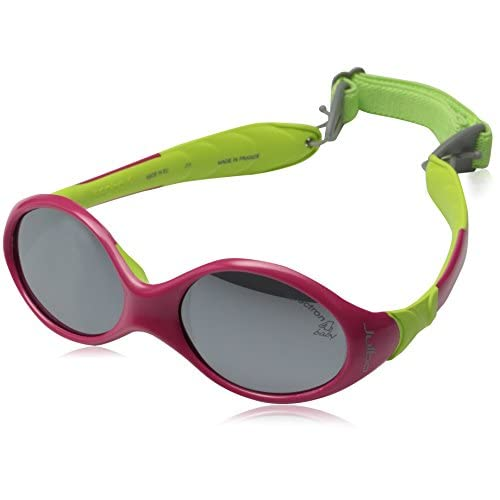discount Julbo Looping I Baby Sunglasses, Spectron 4 Baby Lens, Fuschia/Lime Green, 0-18 months for sale
