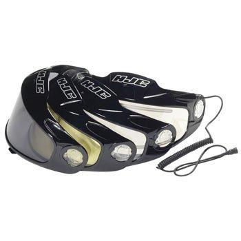HJC Dual Lens Fog Free Shield CL-12 Snow Snowmobile Helmet Accessories - Color: Dark Smoke