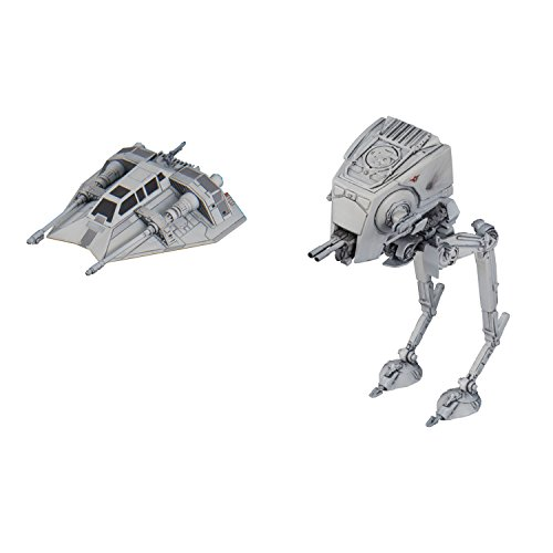 Bandai Vehicle Model 008 Star Wars AT-ST Height 60mm & Snow Speeder Height 40mm Plastic Model