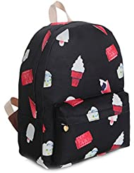 Gumstyle Canvas Travel School Bag Backpack Rucksack Ice Cream