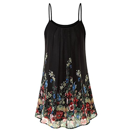 - HOT! Women's Short Dresses, vermers Casual Sleeveless Chiffon Boho Print Mini Sundress