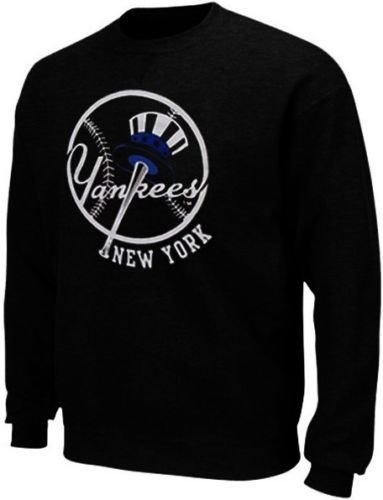 Majestic New York Yankees MLB Licensed Black Jameson Sweatshirt Men Big Sizes (4XL)