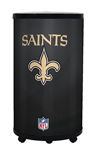 NFL New Orleans Saints Ice Barrel Cooler, Black, 19'' by GLAROS
