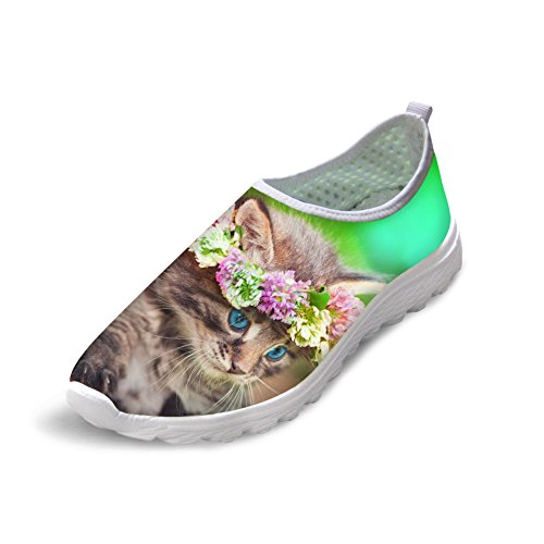 2 Bigcardesigns Lovely Kitty Lightweight Sneakers Shoes cat Female Running 7rr8TCqnvw