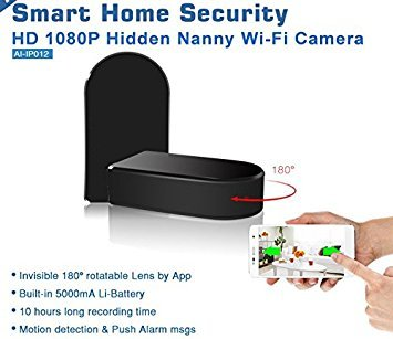 Brickhouse Security 1080p Hd 180 Degrees Rotating Wifi Hidden Camera Black Box