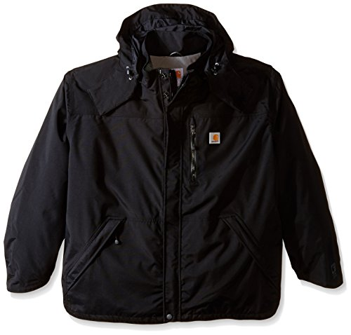 Tall Shoreline Jacket Waterproof Breathable Nylon,Black,XXX-Large ()