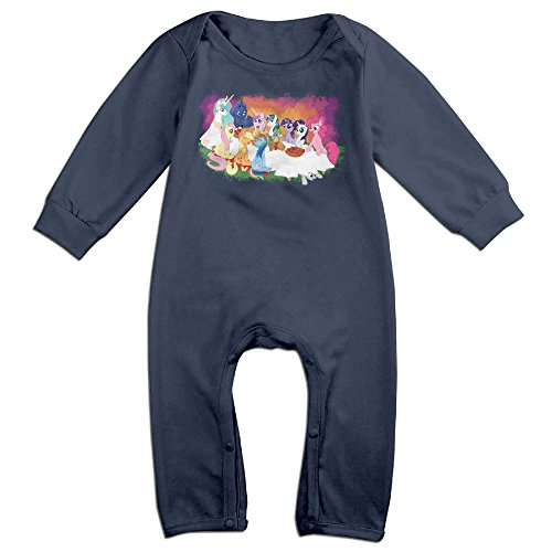 Baby Infant Romper My Little Pony Long Sleeve Bodysuit Outfits Clothes Navy 6 M