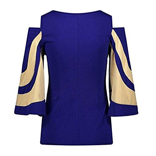 Blouse Chic Grande Chemisier Fille Ruiying Shirt Mode Manteau Chemise Vetement Soiree Femme Femme Bleu Fashion Casual Taille t EqZXR0wp
