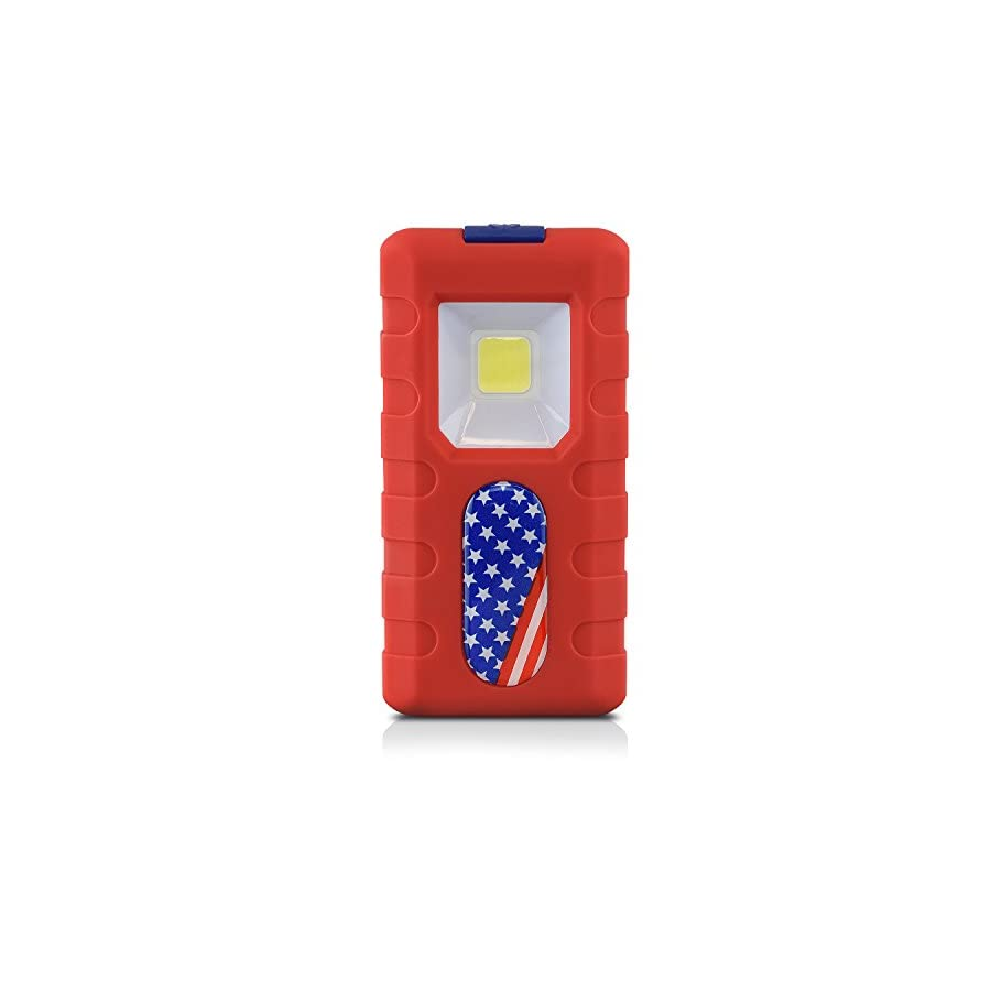 Neiko 40330 Compact 1.5W COB LED Pocket Light   150 Lumens Brightness   Magnetic Rear Clip   3 AAA Batteries Included