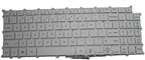 Laptop Keyboard for LG 15ZD980-T LG15Z98 15Z980-GA55J 15Z980-GA77J 15Z980-GA7CJ 15Z980-GR55J English US White Without Frame