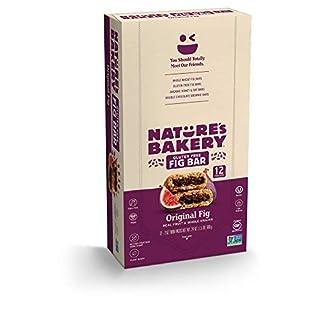 Nature's Bakery Gluten Free Fig Bars, Original Fig, 1- 12 Count Box of 2 oz Twin Packs (12 Packs), Vegan Snacks, Non-GMO