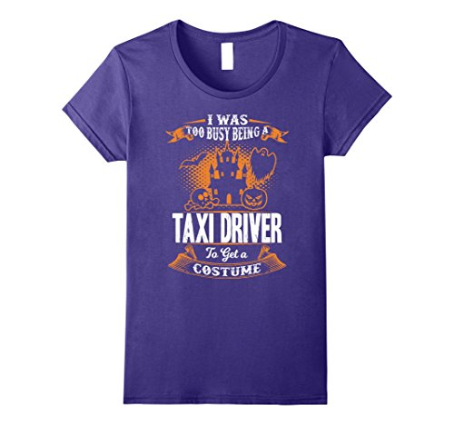 Womens Taxi Driver Halloween Shirt Funny Costume Tee Large Purple