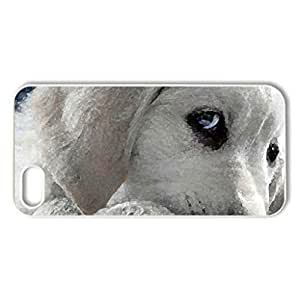 Adorable puppy - Case Cover for iPhone 5 and 5S (Dogs Series, Watercolor style, White)
