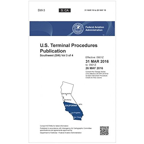FAA IFR Terminal Procedures Bound Southwest (SW-3) Vol 3 of 4 (Always Current Edition)