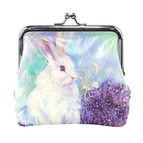 fcc60e8e814a Coin Purse Bunny Painting Rabbit Womens Wallet Clutch Bag Girls Small Purse