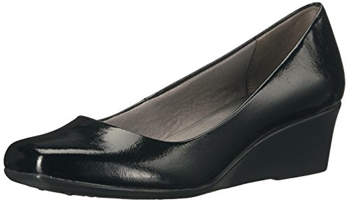 LifeStride Women's Garam Wedge Pump, Black, 7 M US
