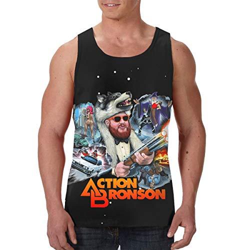 AvisN Men's Action Bronson Classic Muscle Tank Top T-Shirt XXL Black ()