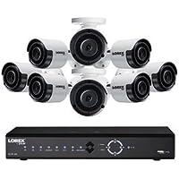 Lorex 8 Channel Indoor/Outdoor Wired 4K 2TB DVR Surveillance System (Black/White)