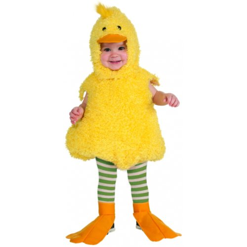Rubie's Cuddly Jungle Quackie Duck Romper Costume, Yellow, 12-18 Months -