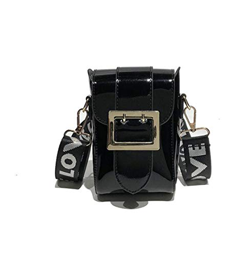 a Black piccola borsa larga Mini cellulare Borsa tracolla tracolla a verniciata a a pelle GSHGA Borsa mano Borsa per Borsa fibbia tracolla in femminile Borsa con qSAxpW54w