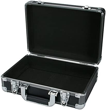 SRA Cases EN-AC-RB-340 Gun Metal Aluminum Hard Case13.4 x 9.5 x 4.7 , Grey