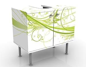 mantiburi Design March - Mueble bajo lavabo (se puede invertir lateralmente, 60 x 55 x 35 cm), diseo de marzo
